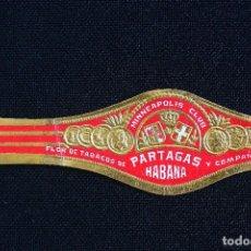 Vitolas de colección: VITOLA PARTAGAS-MINNEAPOLIS CLUB-HABANA CIGAR BAND. Lote 244754135