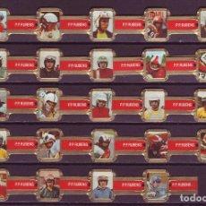 Vitolas de colección: RUBENS, MOTORISTAS, ROJO, 24 VITOLAS, SERIE COMPLETA.. Lote 245720305