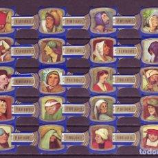 Vitolas de colección: BREUGHEL, FRAGMENTOS DE BREUGHEL, AZUL, 20 VITOLAS, SERIE COMPLETA.. Lote 245722170