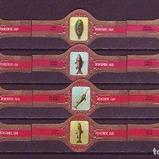 Vitolas de colección: ROKENDE JAN, PECES, SERIE 1ª, ROJO, 12 VITOLAS, SERIE COMPLETA.. Lote 245722200
