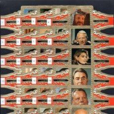Vitolas de colección: LUGANO, ESTADISTAS, GRAN FORTMATO, 24 VITOLINAS, SERIE COMPLETA.. Lote 245722510