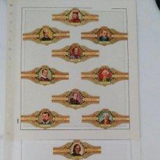 Vitolas de colección: 200 VITOLAS DE LITERATOS DE ALVARO. Lote 249344865