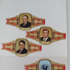 Vitolas de colección: 81 VITOLAS DE PREMIOS NOBEL DE ALVARO. Lote 249345685