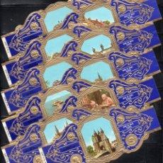 Anéis de charuto de coleção: DERK DE VRIES, TURISMO, SERIE 32, GRAN FORMATO, 10 VITOLINAS, SERIE COMPLETA.. Lote 251246495