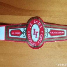 Vitolas de colección: VITOLA - LA FAMA - ESPECIAL CEDRO - CIGARCANARIA. Lote 253978760