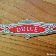 Vitolas de colección: VITOLA - DULCE.. Lote 254284910