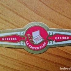 Vitolas de colección: VITOLA - LA ESMERALDA - SELECTA CALIDAD.. Lote 254287850
