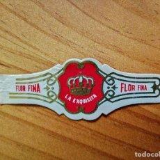 Vitolas de colección: VITOLA - LA EXQUISTA - FLOR FINA.. Lote 254288080