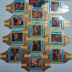 Vitolas de colección: 10283 - VITOLAS - MARCA ALVARO - SERIE PINTORES ESPAÑOLES VALDES LEAL - LOTE DE 12 UNIDADES. Lote 254305005