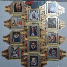 Vitolas de colección: 10284 - VITOLAS - MARCA ALVARO - SERIE PINTORES ESPAÑOLES EL GRECO II - LOTE DE 12 UNIDADES. Lote 254305020