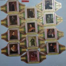 Vitolas de colección: 10288 - VITOLAS - MARCA ALVARO - SERIE III CUADROS DE PINTORES ESPAÑOLES - LOTE DE 12 UNIDADES. Lote 254305295