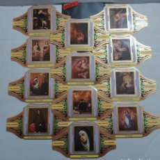 Vitolas de colección: 10297 - VITOLAS - MARCA ALVARO - SERIE PINTORES ESPAÑOLES MURILLO III - LOTE DE 12 UNIDADES. Lote 254305535