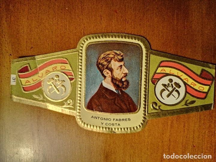 VITOLA - ALVARO - SERIE: ESCULTORES - ANTONIO FABRES Y COSTA. (Coleccionismo - Objetos para Fumar - Vitolas)