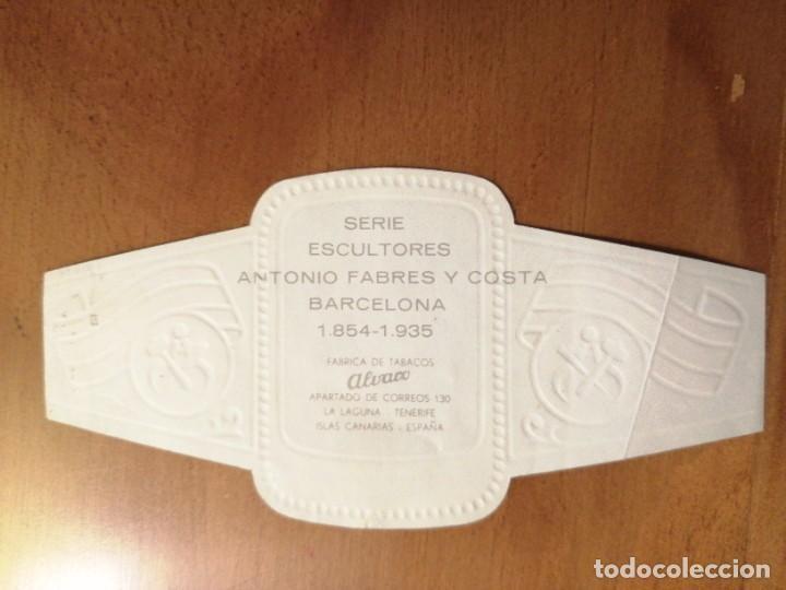 Vitolas de colección: VITOLA - ALVARO - SERIE: ESCULTORES - ANTONIO FABRES Y COSTA. - Foto 2 - 254642790