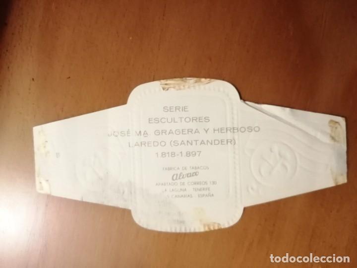 Vitolas de colección: VITOLA - ALVARO - SERIE: ESCULTORES - JOSÉ Mª GRAGERA Y HERBOSO. - Foto 2 - 254643310