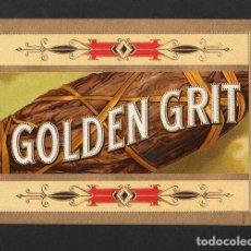 Vitolas de colección: VITOLA, ORIGINAL LITOGRAFÍA. GOLDEN GRIT. TEMÁTICA: TABACOS.. Lote 255938305