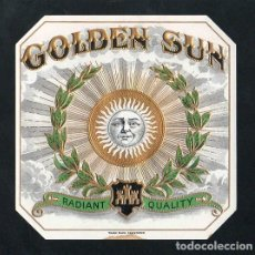 Vitolas de colección: VITOLA, ORIGINAL LITOGRAFÍA. GOLDEN SUN. TEMÁTICA: SOLES.. Lote 255938550