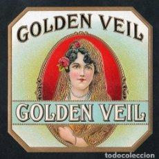 Vitolas de colección: VITOLA, ORIGINAL LITOGRAFÍA. GOLDEN VEIL. TEMÁTICA: MUJERES.. Lote 255938690