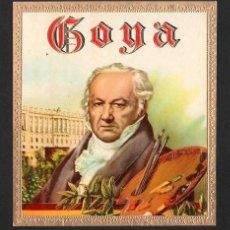 Vitolas de colección: VITOLA, ORIGINAL LITOGRAFÍA. FRANCISCO DE GOYA (1746-1828). TEMÁTICA: PERSONAJES.. Lote 255942375