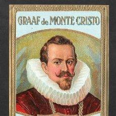 Vitolas de colección: VITOLA, ORIGINAL LITOGRAFÍA. CONDE DE MONTECRISTO (A. DUMAS 1802-1870). TEMÁTICA: PERSONAJES.. Lote 255943210