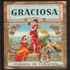Vitolas de colección: VITOLA, ORIGINAL LITOGRAFÍA. GRACIOSA. TEMÁTICA: MUJERES.. Lote 255943570