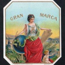 Vitolas de colección: VITOLA, ORIGINAL LITOGRAFÍA. GRAN MARCA. TEMÁTICA: MUJERES.. Lote 255944510