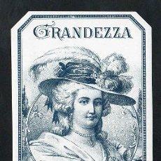 Vitolas de colección: VITOLA, ORIGINAL LITOGRAFÍA. GRANDEZZA. TEMÁTICA: MUJERES.. Lote 255945405