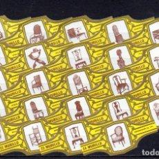 Vitolas de colección: MURILLO, SILLAS DE EPOCA, AMARILLO, 24 VITOLAS, SERIE COMPLETA.. Lote 257480435