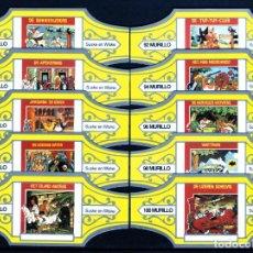 Vitolas de colección: MURILLO, SUSKE Y WISKE, SERIE 10, AMARILLO/PLATA, 10 VITOLAS, SERIE COMPLETA.. Lote 257480785