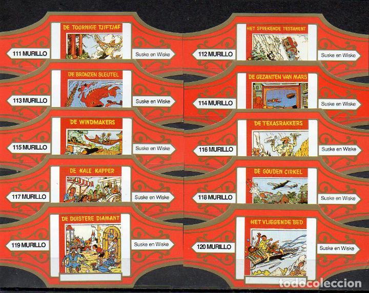 MURILLO, SUSKE Y WISKE, SERIE 12, NARANJA/ORO, 10 VITOLAS, SERIE COMPLETA. (Coleccionismo - Objetos para Fumar - Vitolas)