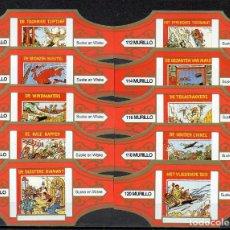 Vitolas de colección: MURILLO, SUSKE Y WISKE, SERIE 12, NARANJA/ORO, 10 VITOLAS, SERIE COMPLETA.. Lote 257481050