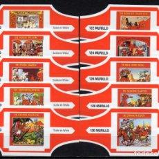 Vitolas de colección: MURILLO, SUSKE Y WISKE, SERIE 13, ROJO/BLANCO, 10 VITOLAS, SERIE COMPLETA.. Lote 257481115
