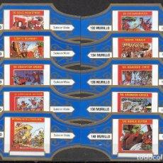 Vitolas de colección: MURILLO, SUSKE Y WISKE, SERIE 14, AZUL/ORO, 10 VITOLAS, SERIE COMPLETA.. Lote 257481195