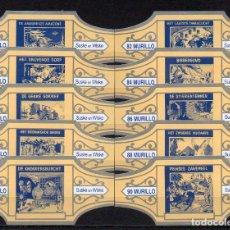 Vitolas de colección: MURILLO, SUSKE Y WISKE, SERIE 9, CREMA/PLATA, 10 VITOLAS, SERIE COMPLETA.. Lote 257702100