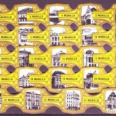 Vitolas de colección: MURILLO, TEATROS FAMOSOS, AMARILLO, 24 VITOLAS, SERIE COMPLETA.. Lote 257702175