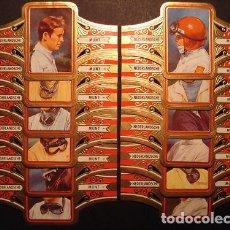 Vitolas de colección: NEDERLANDSCHE MUNT, PILOTOS DE CARRERAS, GRAN FORMATO, 12 VITOLINAS, SERIE COMPLETA.. Lote 257704190