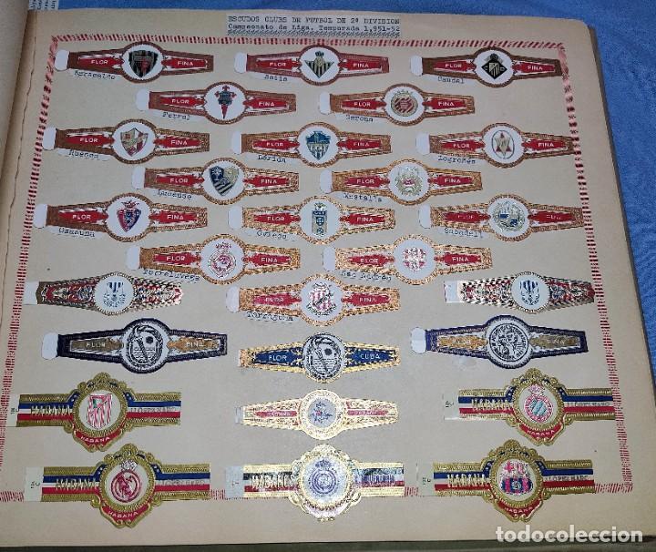 27 VITOLAS ANTIGUAS ESCUDOS CLUBS DE FUTBOL DE 2ª DIVISION CAMPEONATO DE LIGA TEMPORADA 1951/52 (Coleccionismo - Objetos para Fumar - Vitolas)