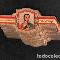 Vitolas de colección: ALVARO. SERIE DE VITOLAS COMPLETA. DESCUBRIDORES DE AMÉRICA.. Lote 261783685