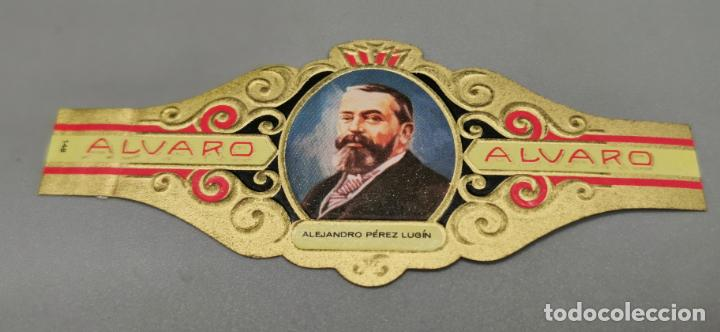 VITOLA - ALVARO - SERIE LITERATOS - ALEJANDRO PEREZ LUGIN (Coleccionismo - Objetos para Fumar - Vitolas)