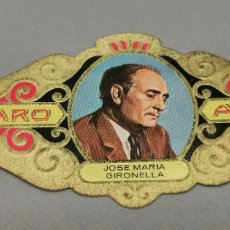 Vitolas de colección: VITOLA - ALVARO - SERIE LITERATOS -JOSE MARIA GIRONELLA. Lote 263555760