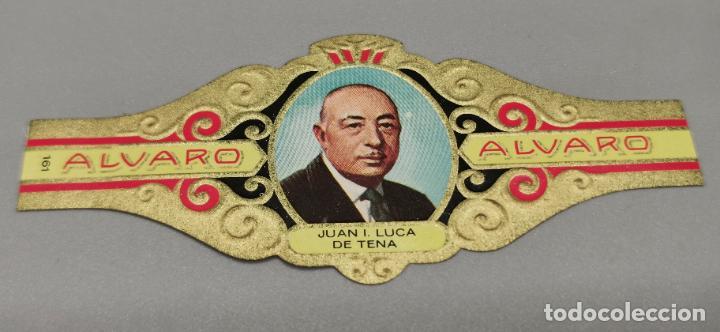 VITOLA - ALVARO - SERIE LITERATOS -JUAN LUCA DE TENA (Coleccionismo - Objetos para Fumar - Vitolas)