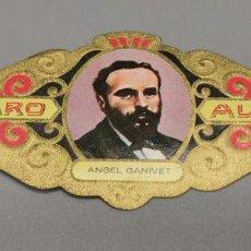 Vitolas de colección: VITOLA - ALVARO - SERIE LITERATOS -ANGEL GAVINET. Lote 263555930