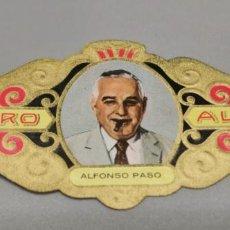 Vitolas de colección: VITOLA - ALVARO - SERIE LITERATOS -ALFONSO PASO. Lote 263556060