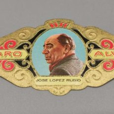 Vitolas de colección: VITOLA - ALVARO - SERIE LITERATOS -JOSEE LOPEZ-RUBIO. Lote 263556205