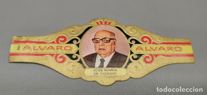 VITOLA - ALVARO - SERIE LITERATOS -JOSE MARIA COSSIO (Coleccionismo - Objetos para Fumar - Vitolas)