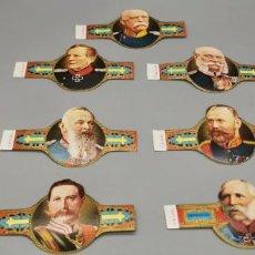 Vitolas de colección: 7 VITOLAS CLÁSICAS. IMPERIO ALEMÁN. CIGAR BAND. Lote 263562345