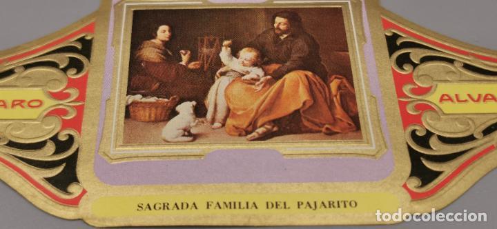 Vitolas de colección: VITOLA FABRICA DE TABACOS ALVARO. SAGRADA FAMILIA DEL PAJARITO - Foto 2 - 263563335