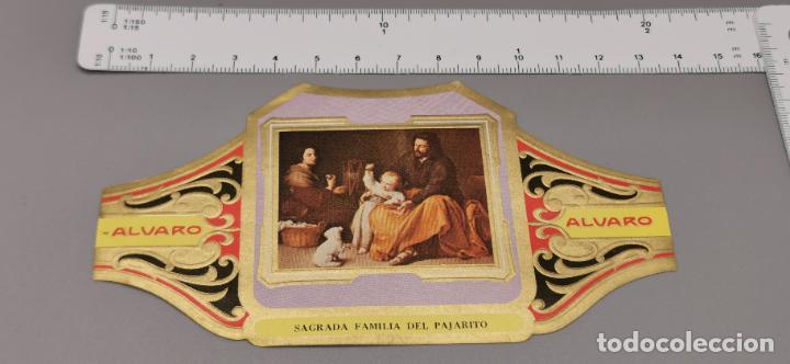 VITOLA FABRICA DE TABACOS ALVARO. SAGRADA FAMILIA DEL PAJARITO (Coleccionismo - Objetos para Fumar - Vitolas)