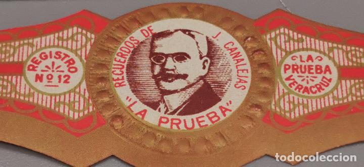 Vitolas de colección: VITOLA CLASICA: , HOMBRES MEXICO, RECUERDOS DE J. CANALEJAS, LA PRUEBA, MEXICO - Foto 2 - 263570565