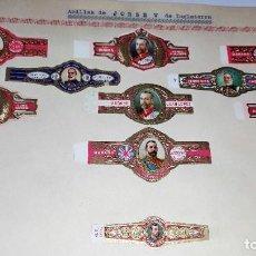 Vitole di collezione: 10 VITOLAS ANTIGUAS SERIE DE JORGE V DE INGLATERRA VARIAS CASAS DE LA HABANA ORIGINALES. Lote 264027100